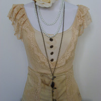 Steampunk Antique style Top by blackmirrordesign on Etsy
