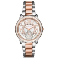 Madelyn Pavé Silver and Rose Gold-Tone Watch | Michael Kors