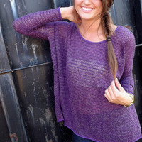 Deep Purple Drop-Sleeve Tunic | The Rage