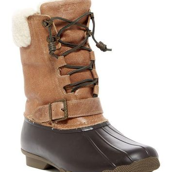 Sperry | Saltwater Misty Genuine Shearling Lined Duck Boot | Nordstrom Rack