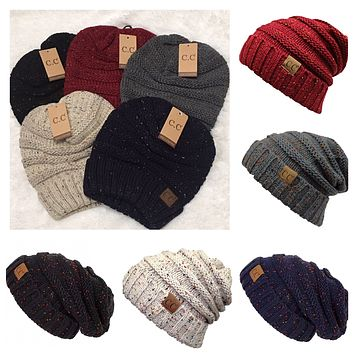 Always in Style Slouchy Speckled Confetti CC Beanie