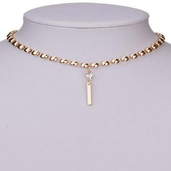 Simple Round Snake Chain Chokers Necklace