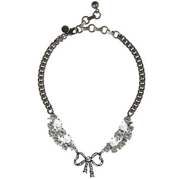 BETTY BOW SHORT NECKLACE IN HEMATITE
