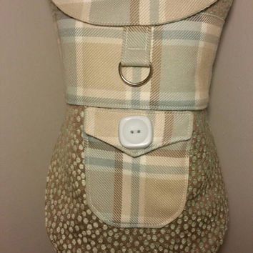 Dog coat with D ring - handmade - size small dog harness  - dog apparel - custom made dog clothes - dog clothing - pets on etsy