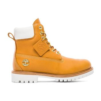 Stussy X Timberland Boot in Cognac