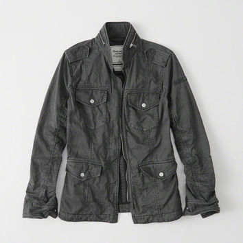Womens Military Twill Shirt Jacket | Womens New Arrivals | Abercrombie.com