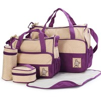 8 Colors 5PCS Baby Diaper bag