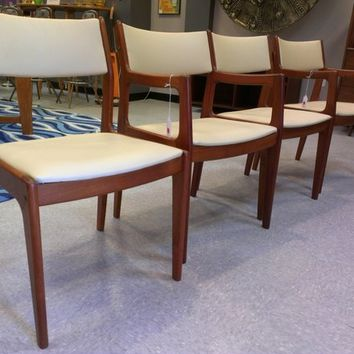 Mid Century Danish Teak Dining Chairs By D Scan