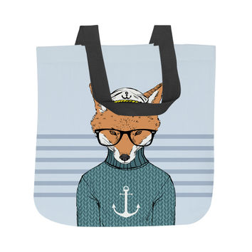 The Foxy Sailor Tote Bag
