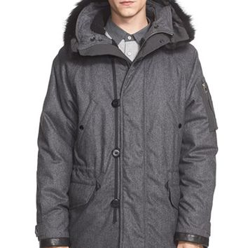 Men's rag & bone 'Arctic' Insulated Parka with Genuine Coyote Fur Trim,