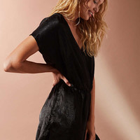 UO Lena Surplice Satin Romper | Urban Outfitters