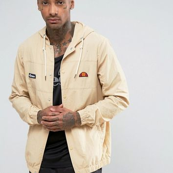 Ellesse Lightweight Jacket in Stone at asos.com