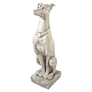 Design Toscano Art Deco Whippet Greyhound Sentinel Dog Statue