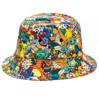 Pokemon Sublimated All Over Characters Bucket Hat | WearYourBeer.com