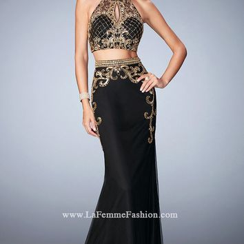 Two-Piece Embellished Gown by Gigi by La Femme