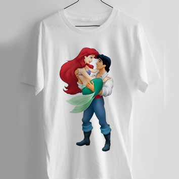 ariel and eric the little mermaid T-shirt Men, Women, Youth and Toddler