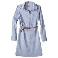 Merona® Women's Chambray Shirt Dress w/Belt -  Dobby Dot