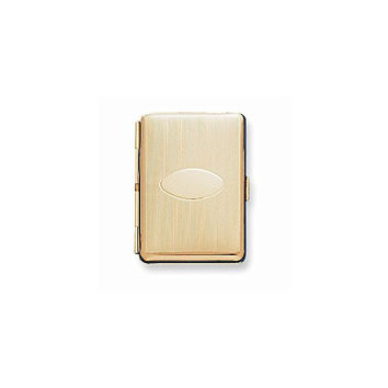 Brass-plated Elastic Holder (Holds 14 king) Cigarette/Card Case