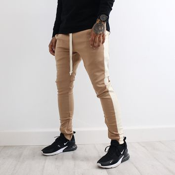 Amari Track Pants (Brown/White)