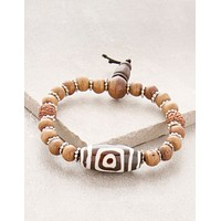 3-Eyed Tibetan Bracelet of Luck