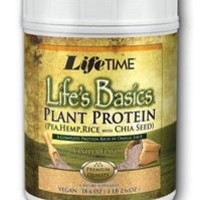 Lifetime Life's Basics Plant Protein, Vanilla, 18.52-Ounces Tub