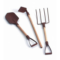 Miniature Garden Rusted Tools - Mini Fairy Village Pieces Accessories Decoration