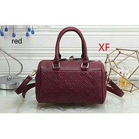 LV Louis Vuitton 2018 new handbags quality assurance embossed perfect F-a-BBPFCJ Red