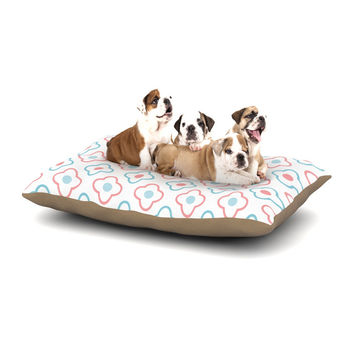 "KESS Original ""Baby Moroccan"" Blue Pink Dog Bed"