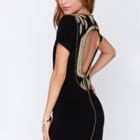 Window Shopping Backless Black Dress