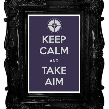 Keep Calm and Take Aim (The Avengers: Hawkeye) 8 x 12 Keep Calm and Carry On Parody Poster