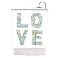 KESS InHouse Four Letter Word Polyester Shower Curtain
