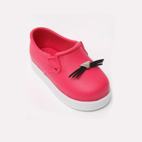 Mini Melissa IT Slip-On Cat-Face Sneakers in Pink