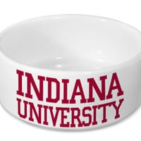 Indiana University Dog Bowl  - IU Ceramic Pet Bowl - Pet Feeder - Pet Dish - Indiana University Officially Licensed Product