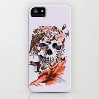Skull, Flower, crow, honey bird and butterfly iPhone 4 4s 5 5s 5c, pillow case and tshirt iPhone & iPod Case by Three Second | Society6
