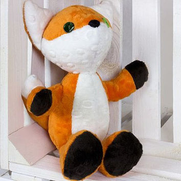 Richard the fox Gift Plush fox Stuffed animal Toy Foxs toy Soft fox toy handmade Toddler Toys orange