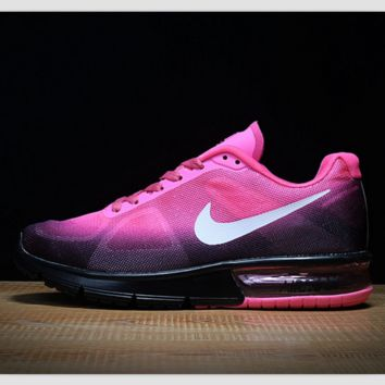 NIKE fashion trends air shoes running shoes casual shoes Light purple black