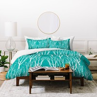 Karen Harris Citrus 2 What Forest Duvet Cover