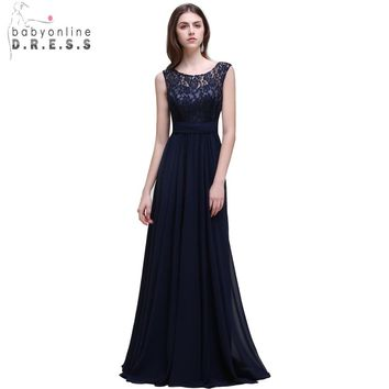Robe Demoiselle D'honneur Real Photo Navy Blue Convertible Bridesmaid Dresses Long 2017 Vestido Madrinha Casamento Longo