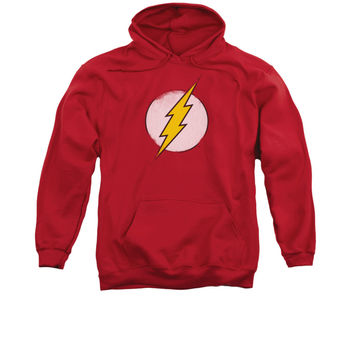 The Flash Distressed Logo Mens/Youth Pullover Hoodie