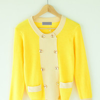 Long Sleeve Button Knit Cardigan