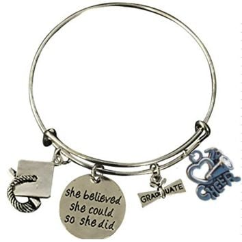Cheer Graduation She Believed She Could So She Did Bracelet