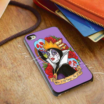Evil Queen Snow White Disney Day Of The Dead - for iPhone 4/4s, iPhone 5/5S/5C, Samsung S3 i9300, Samsung S4 i9500 Hard Case *ojoturuwaecok*