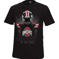 Scarlet & Gray Men's Ohio State Buckeyes 'Dark Night at The Shoe' Football Black T-Shirt