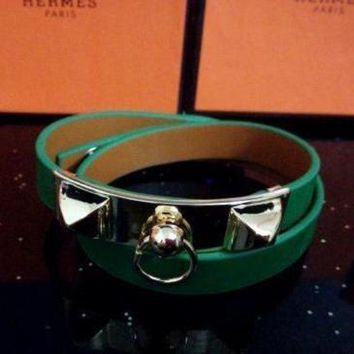 CREYUP0 Hermes Women Fashion Leather Bracelet Jewelry-2