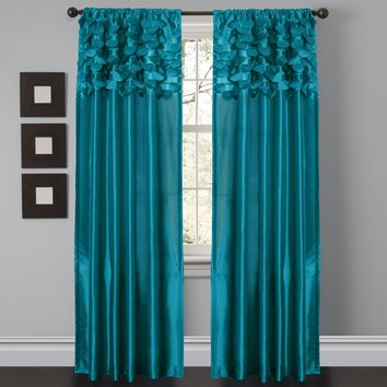 Circle Dream Turquoise or White Window Curtain Set 54x84 (U.S. Seller) Triangle Home Fashion, Home Decoration, Bedroom, Bath, Li