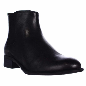 Nine West Jara Flat Ankle Boots - Black/black