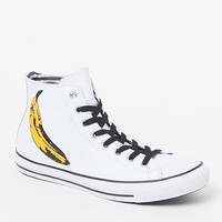 Converse Chuck Taylor All Star High Top Warhol Banana Shoes - Mens Shoes - White - 10