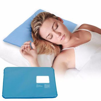 pillow Muscle Relief Summer Ice Pad Massager Therapy  Sleeping Aid Insert Chillow Pad Mat Cooling Gel Pillow