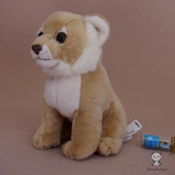 Female Lion Cub Stuffed Animal Plush Toy 7""