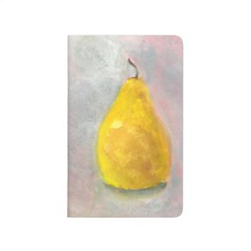 Golden Pear Still Life Watercolor Journal